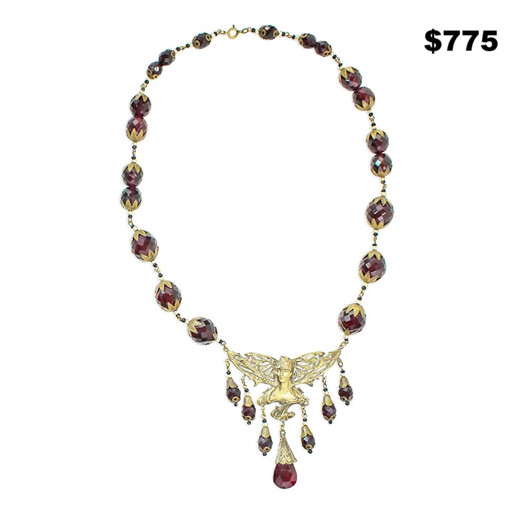 Czech Glass Fairy Necklace - $775