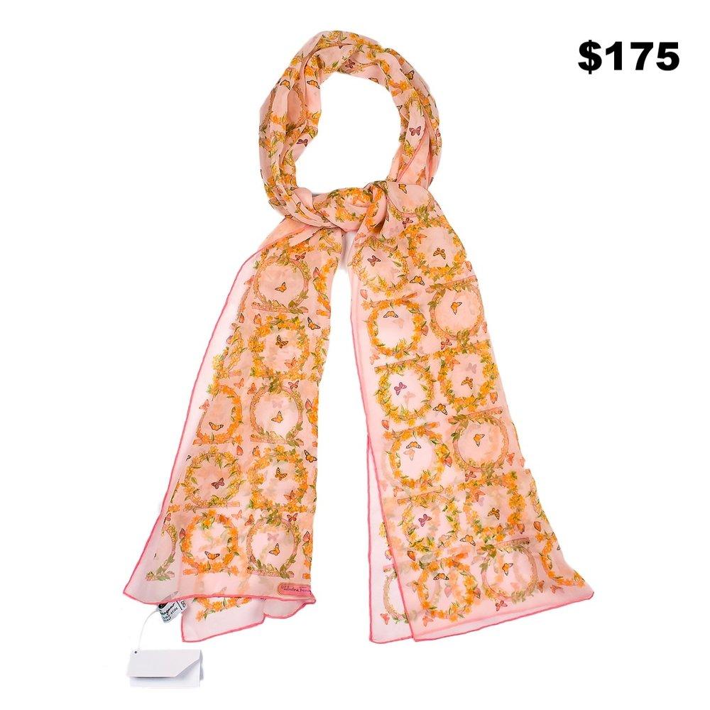 Ferragamo Pink Scarf - $175