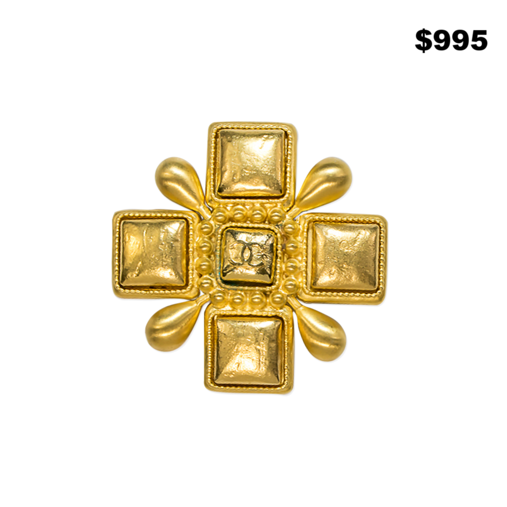 Chanel All Goldtone Pin - $995