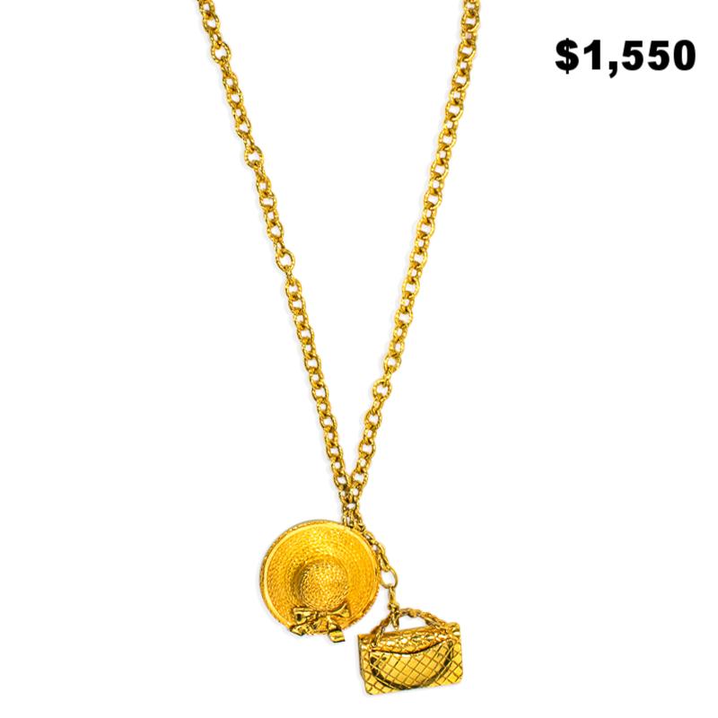Chanel Hat & Purse Necklace - $1,550