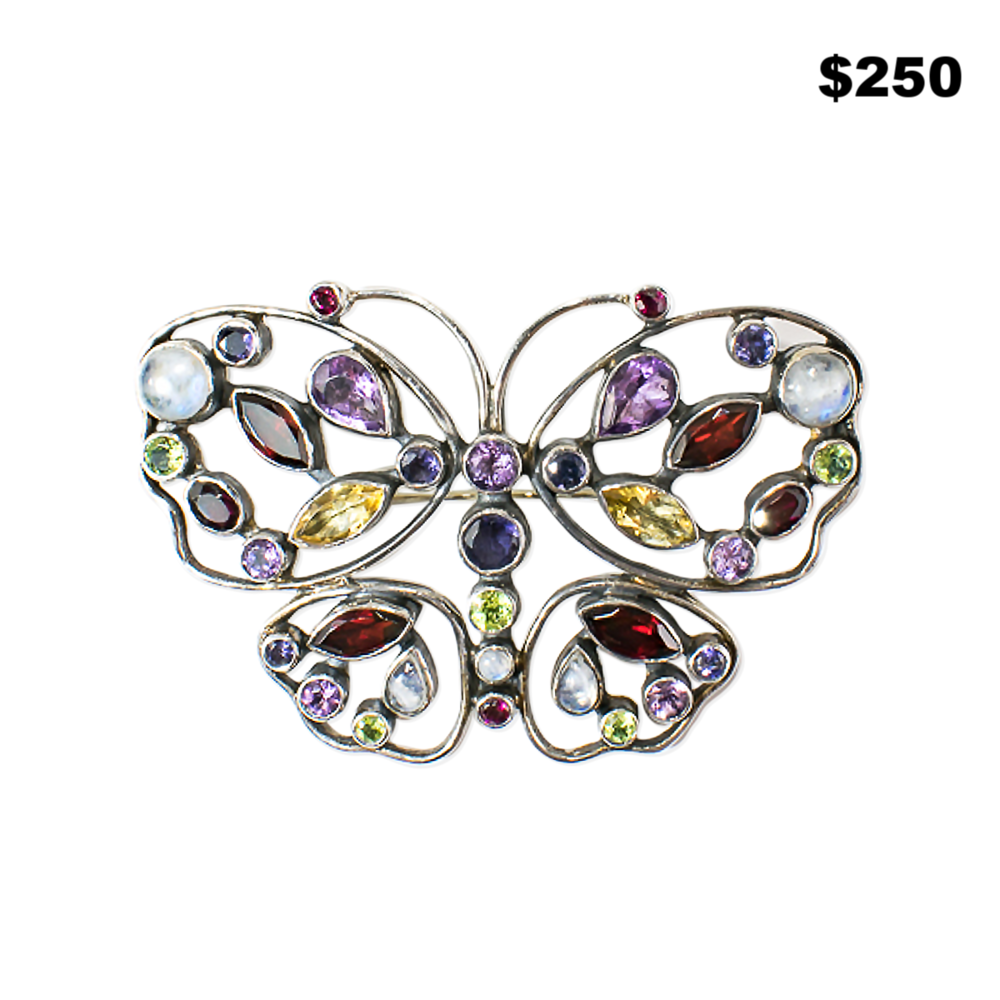 Semiprecious Butterfly Pin