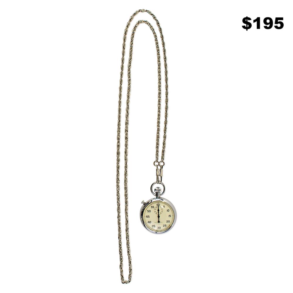 Silver Pocket Watch - $195