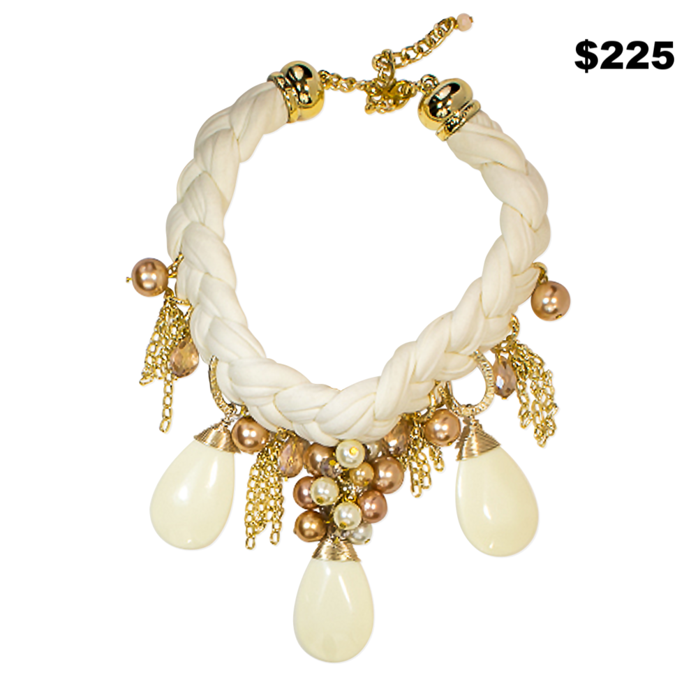 White Stone Choker - $225