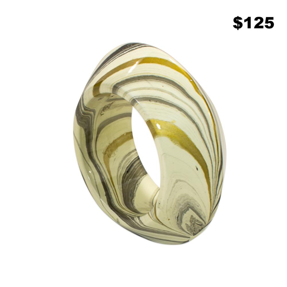 Gold/Silver/Cream Bangle - $125