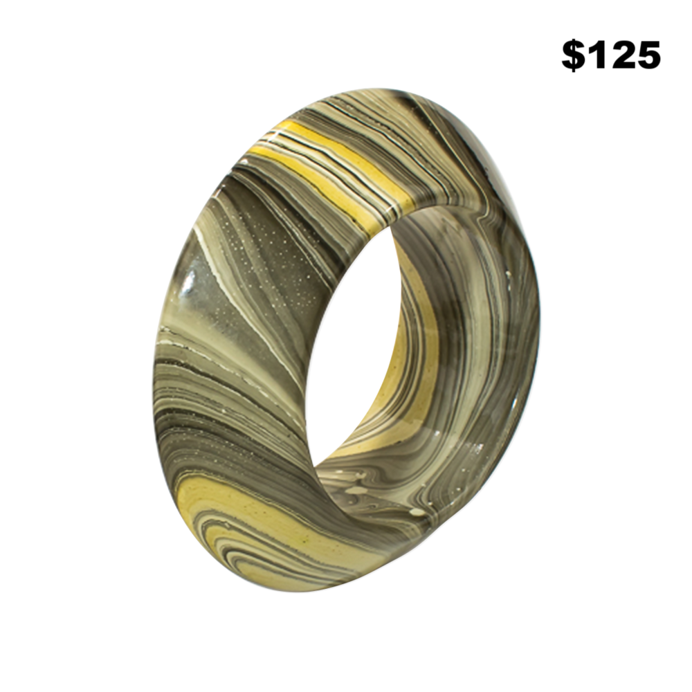 Grey Swirl Bangle - $125