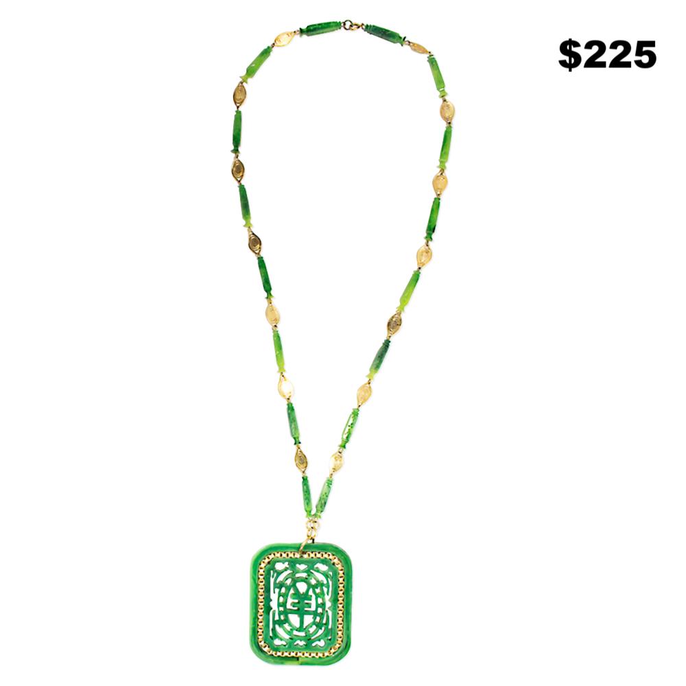Green Resin Pendant - $225