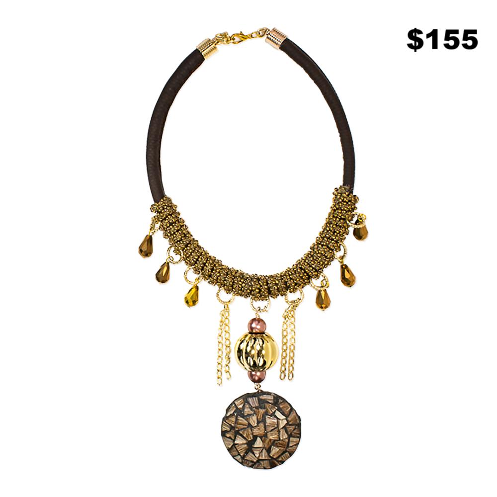 Mosaic Pendant Necklace - $155