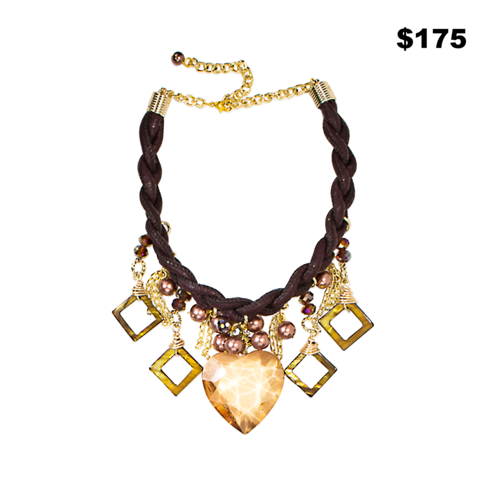Brown & Gold Necklace - $175
