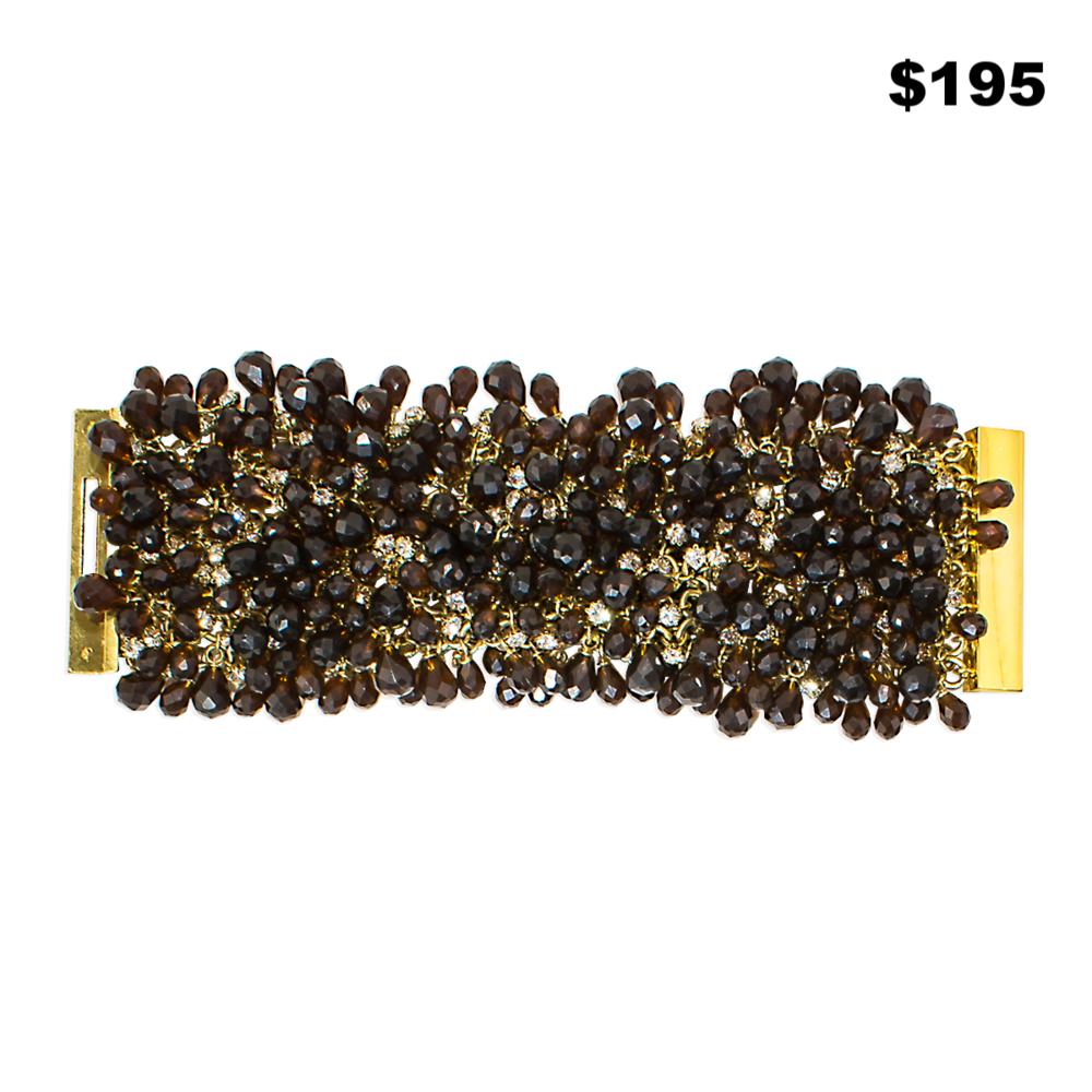 Smoky Briolette Bracelet - $195