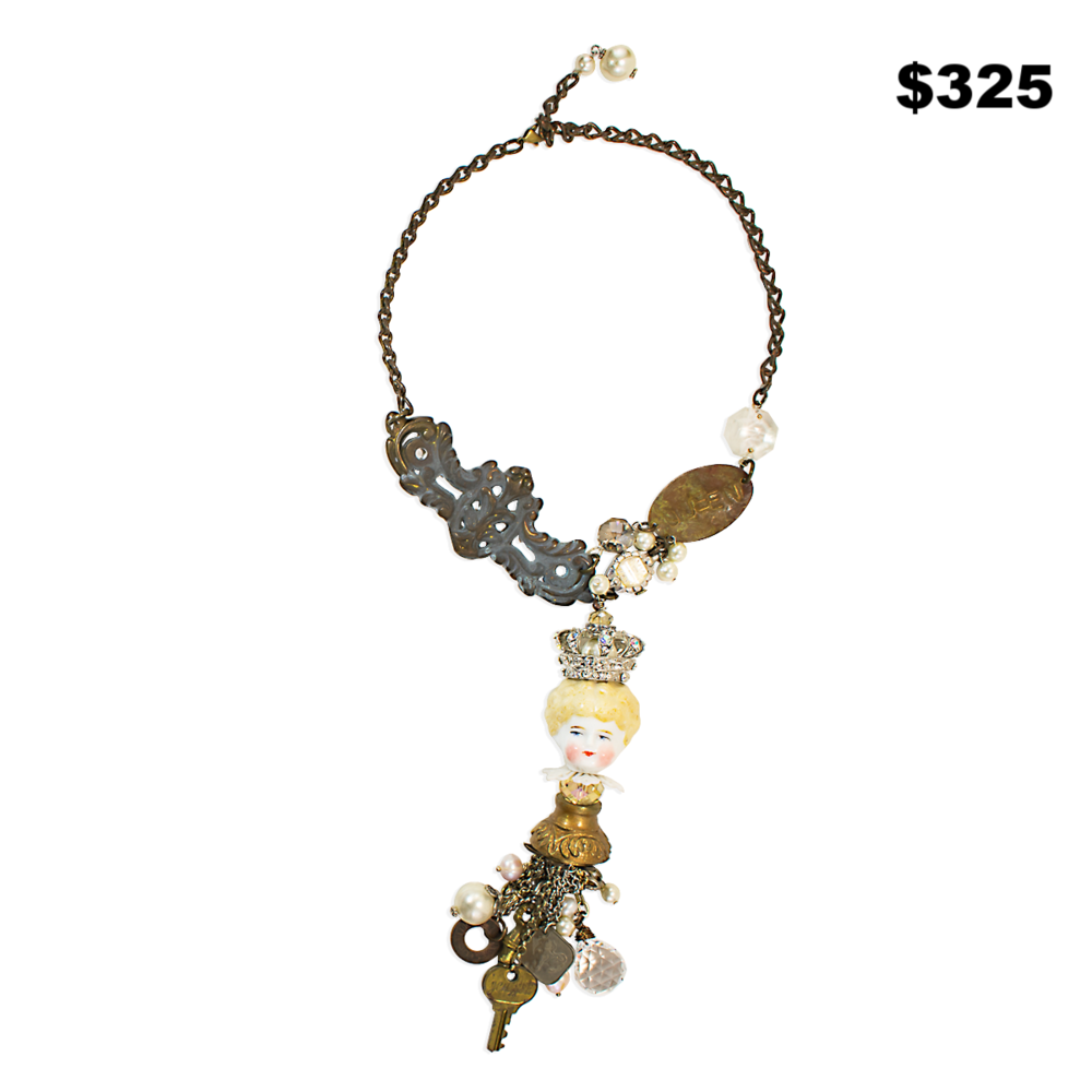 Doll Head Necklace - $325