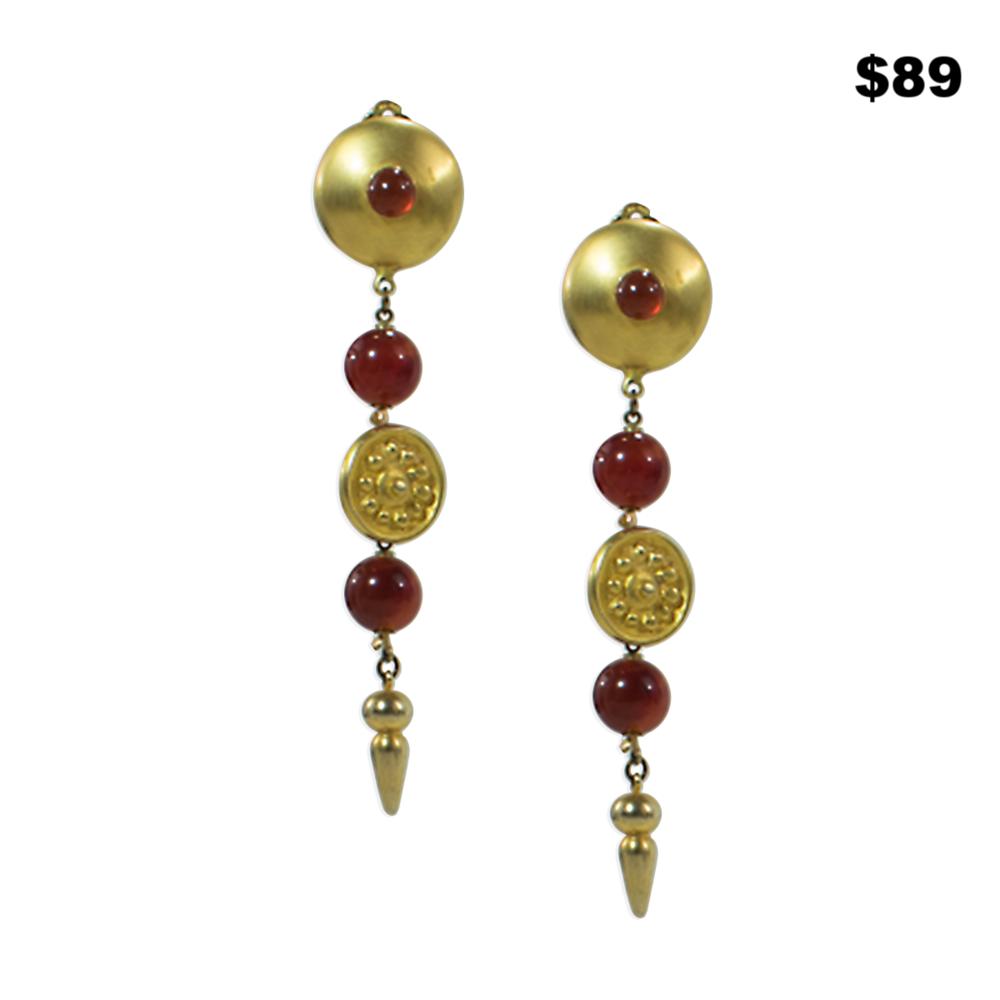 Linear Drop Earrings - $89