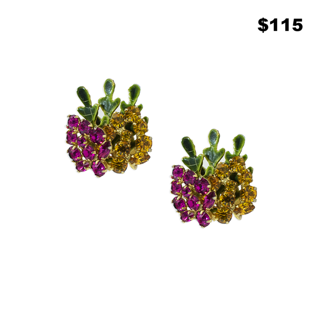 Multi Colored Crystal Earrings
