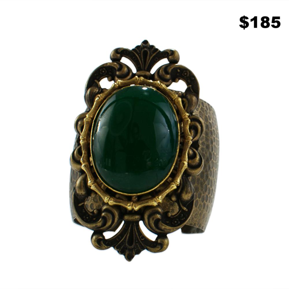 Hammered Brass Cuff - $185