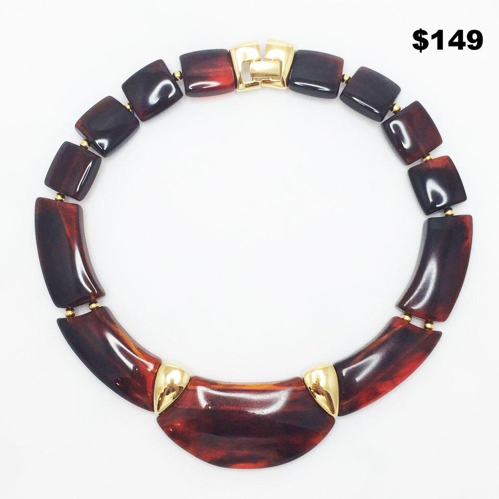 Napier Lucite Necklace - $149