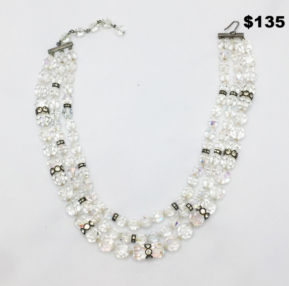 Triple Crystal Necklace - $135