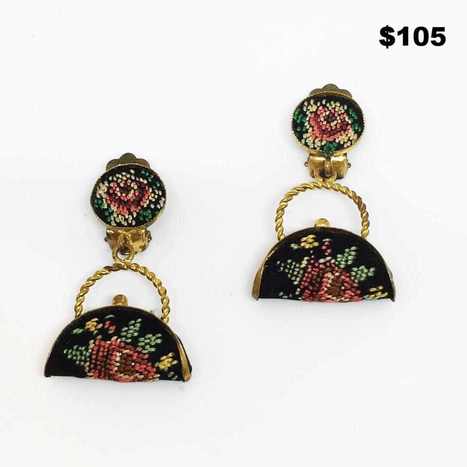 Purse Earrings - $105