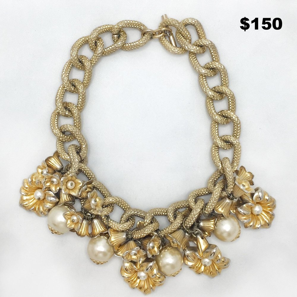 Flower Charm Necklace- $150