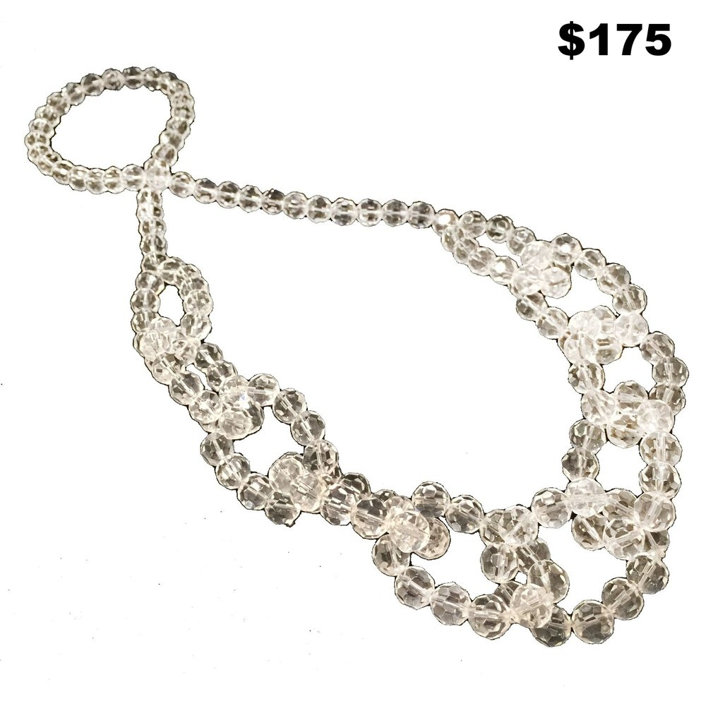 Large Crystal Necklace - $175