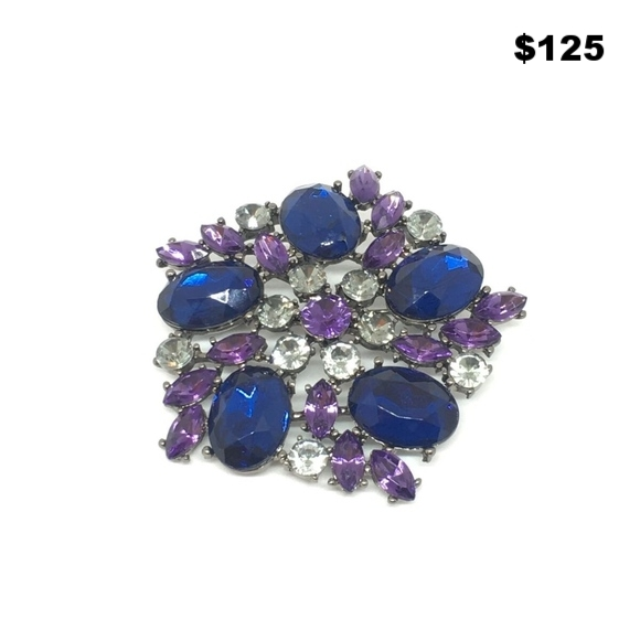 Rhinestone Pin - $125