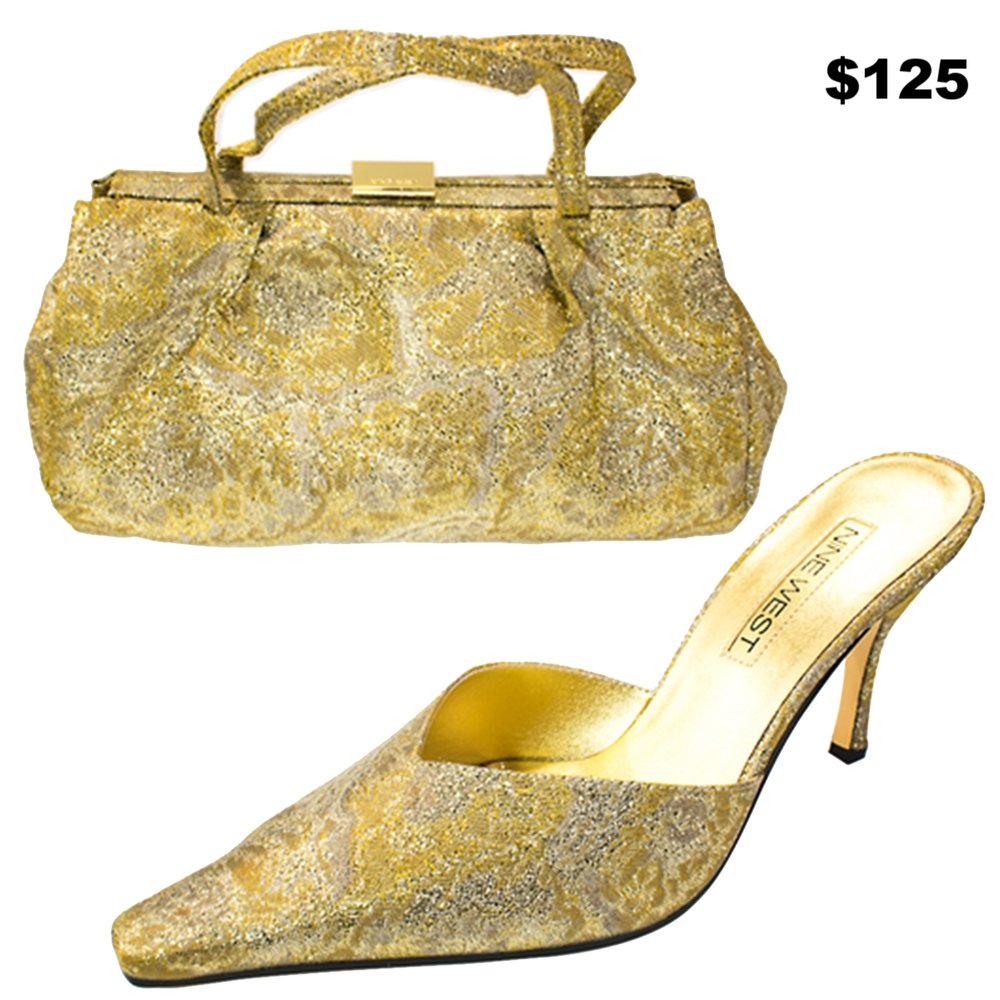 Nine West Gold Brocade Set