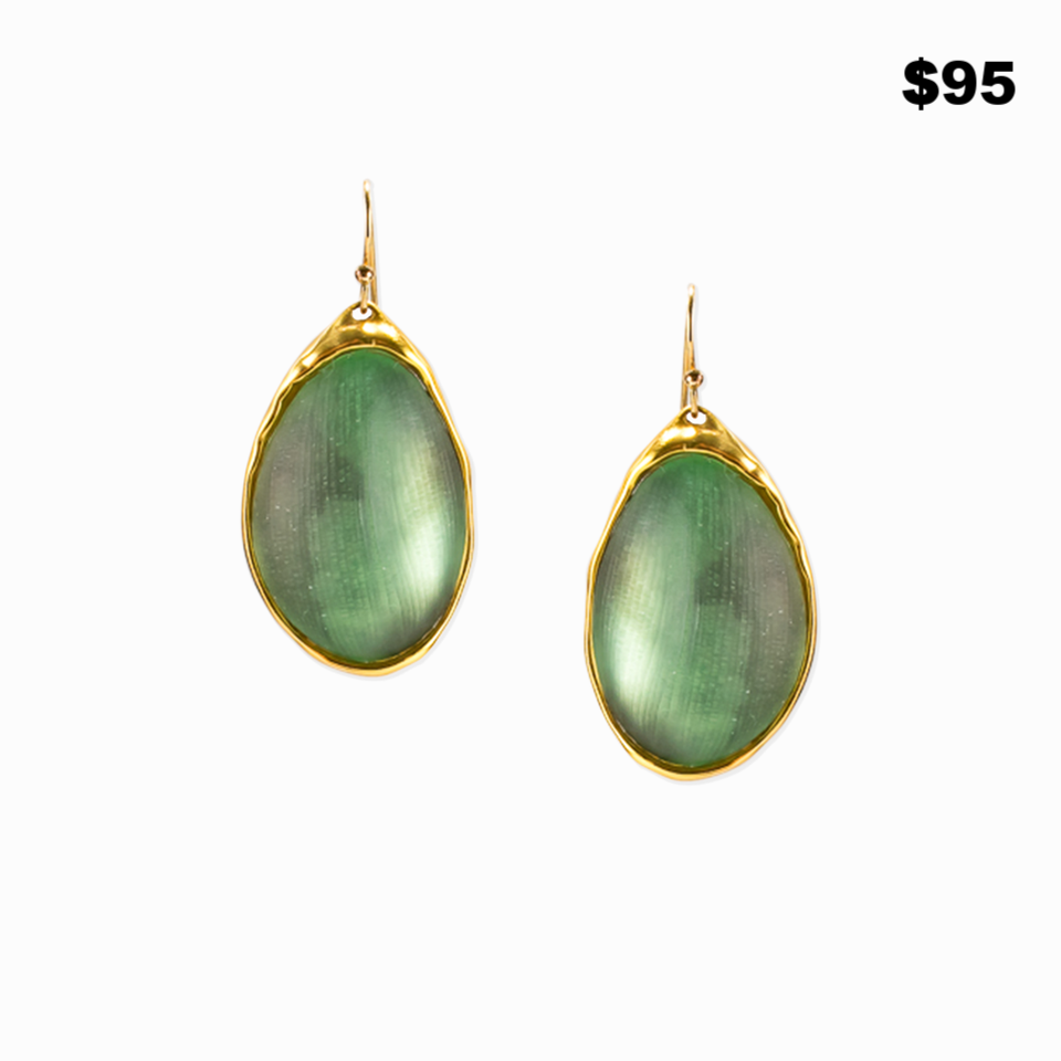 Green lucite earrings - $95