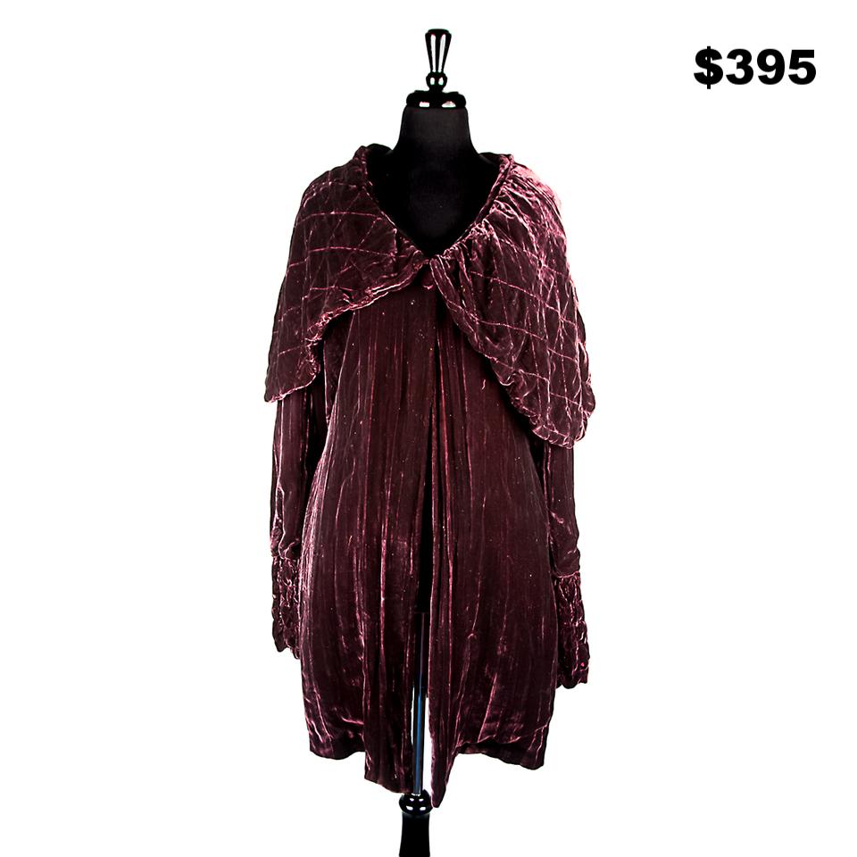 Garnet Silk Velvet Jacket