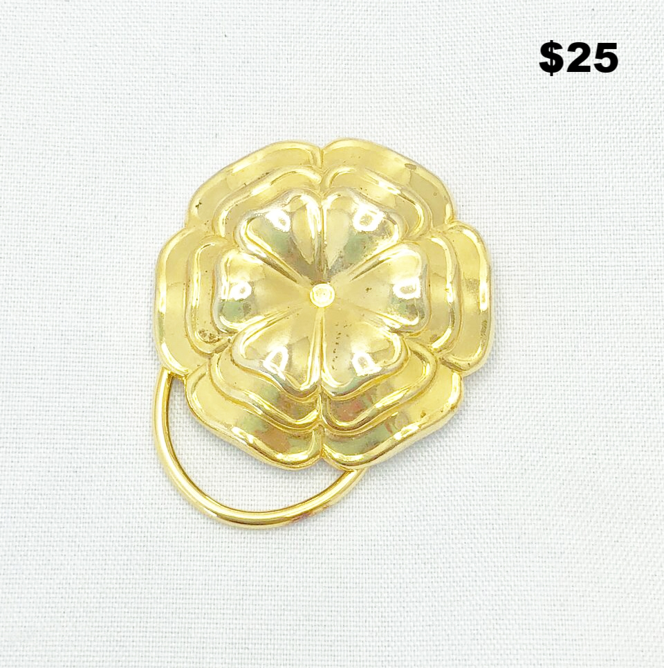 Gold Plated Blossom Pin - $25