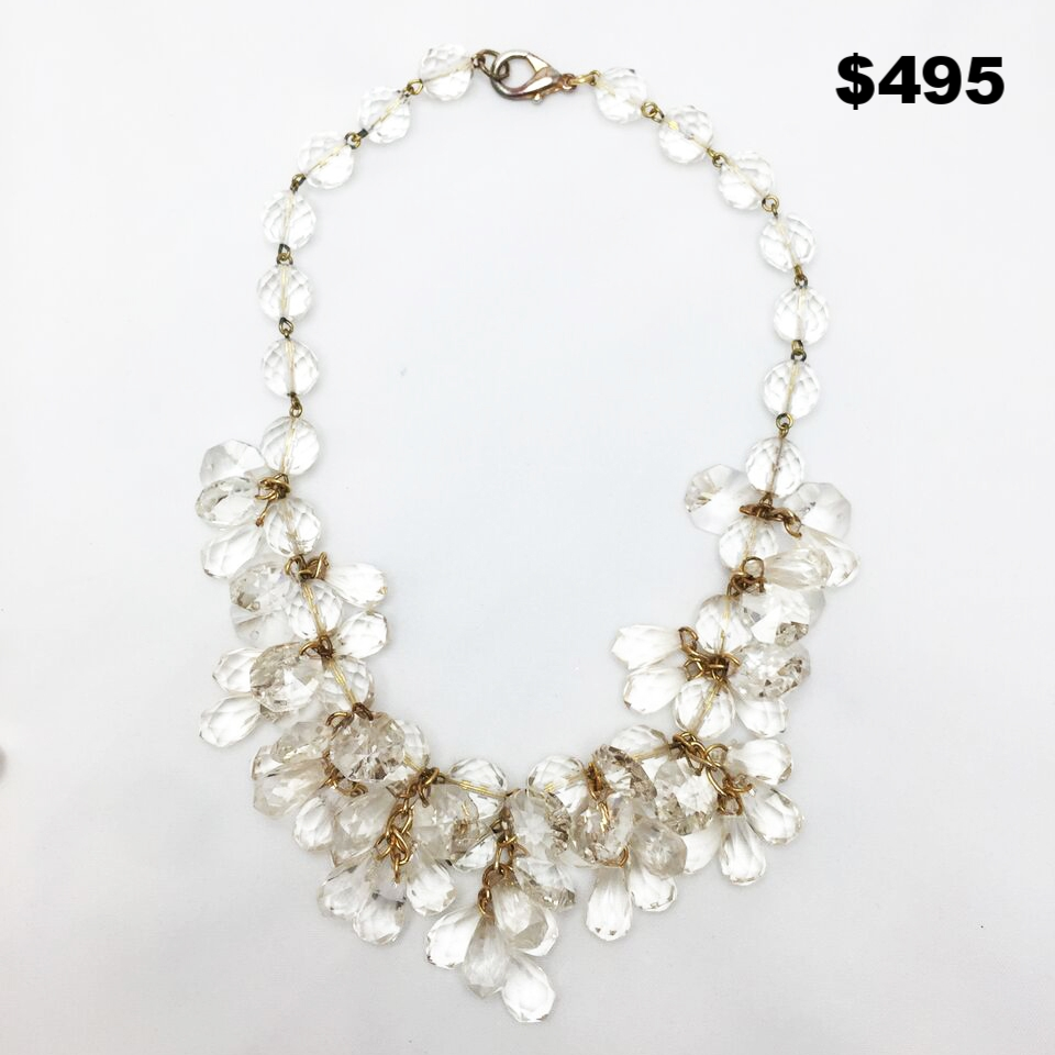 Crystal and Gold Necklace - $495