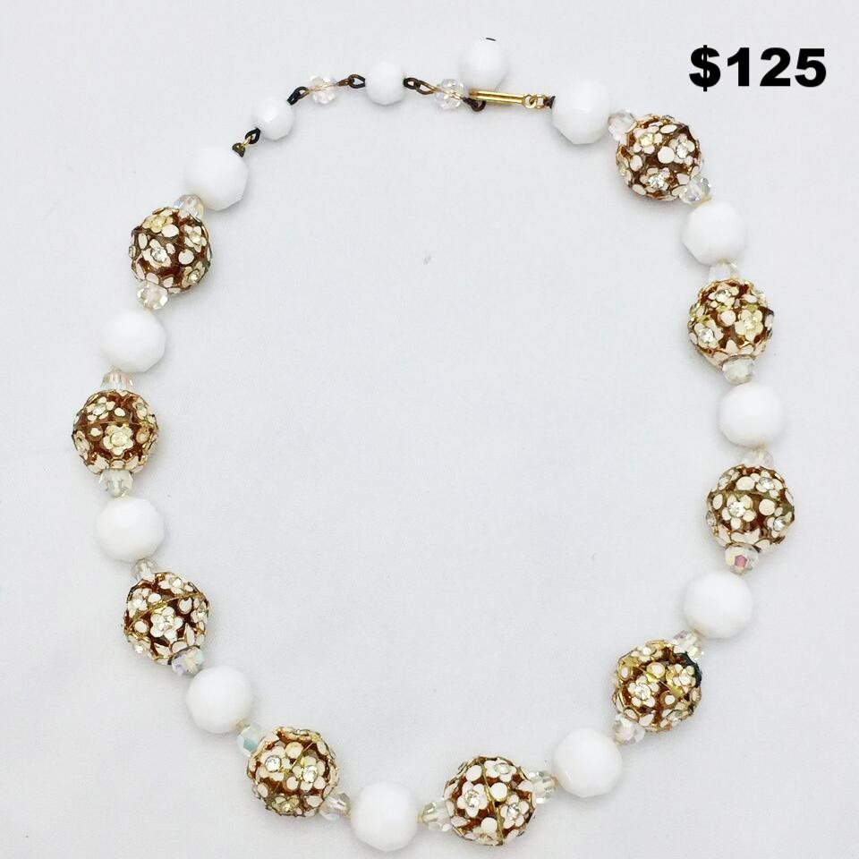 White & Gold Chocker - $150