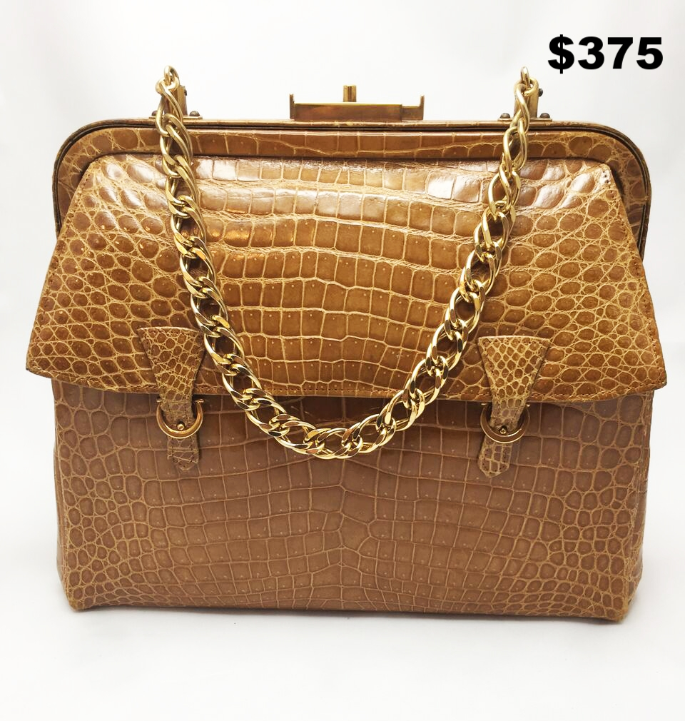 Faux Crocodile Vintage Bag