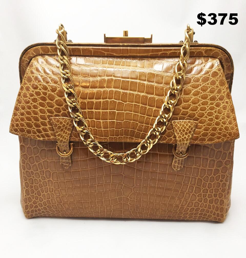 Faux Crocodile Vintage Bag - $375