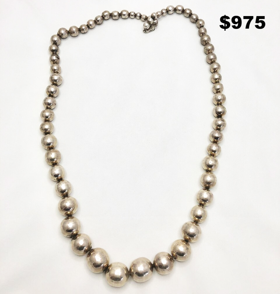 Sterling Bead Necklace - $975