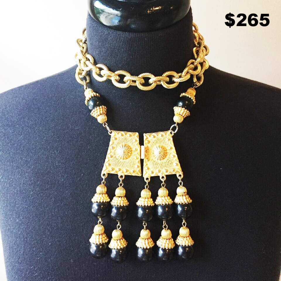 Egyptian Vintage Revival Necklace - $265