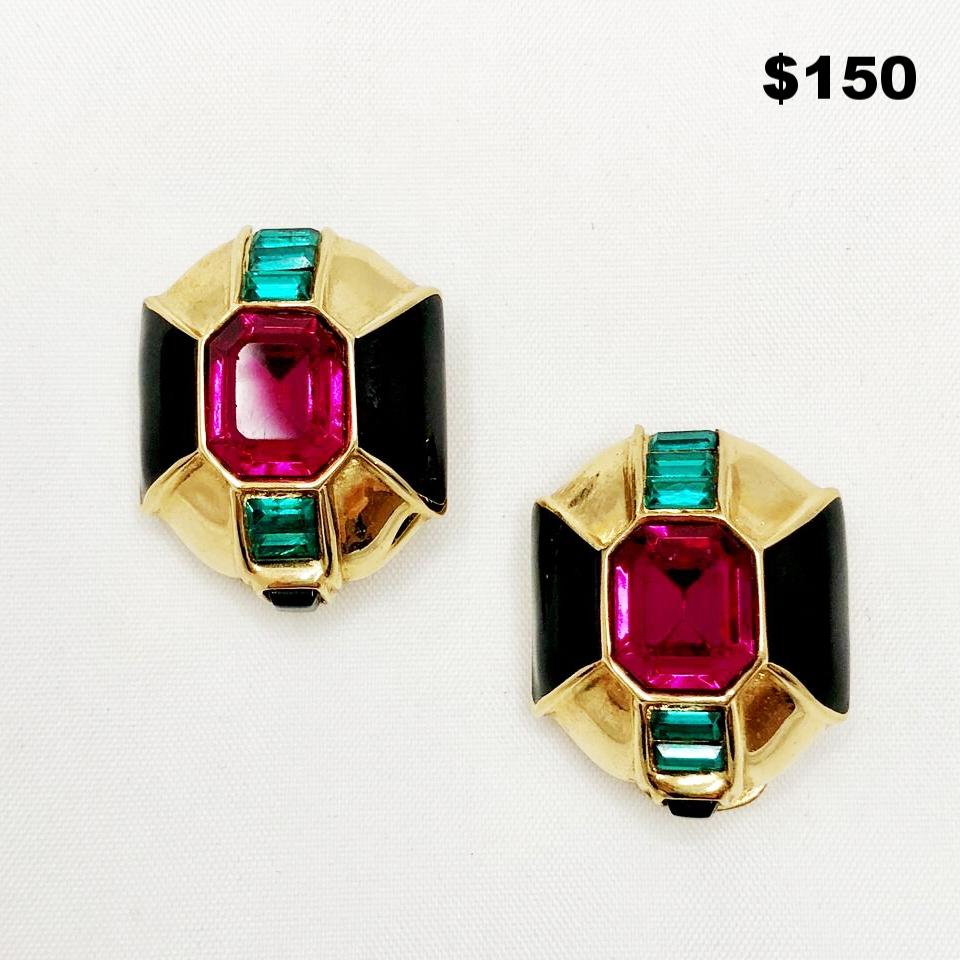 Jeweltone Earrings - $150