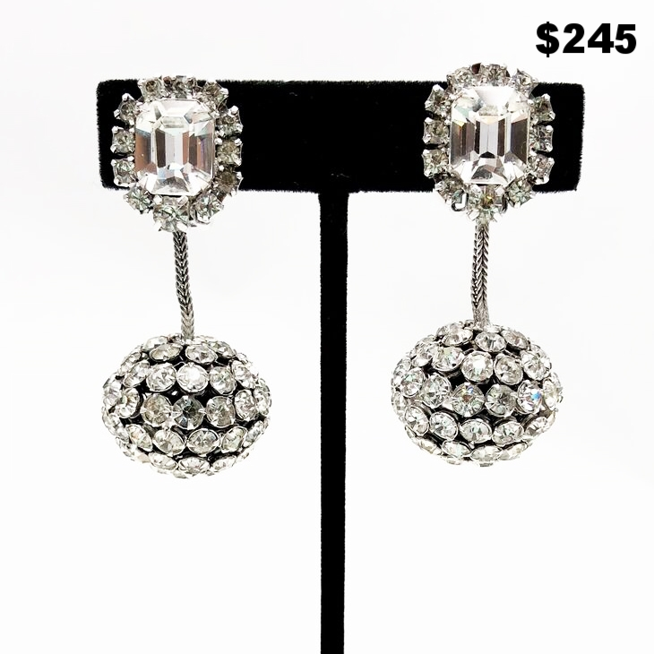 Runway Rhinestone Earrings