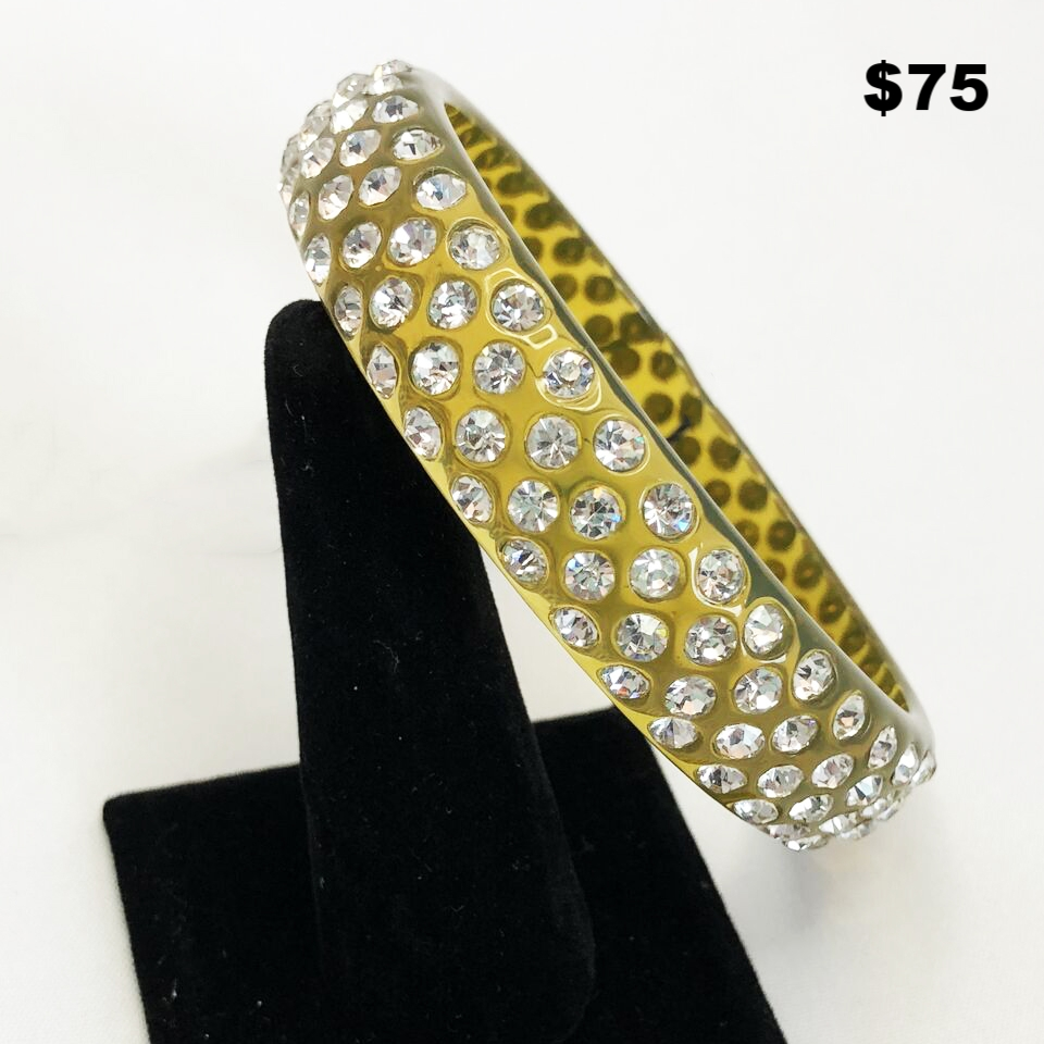 Lucite With Crystal Bangle