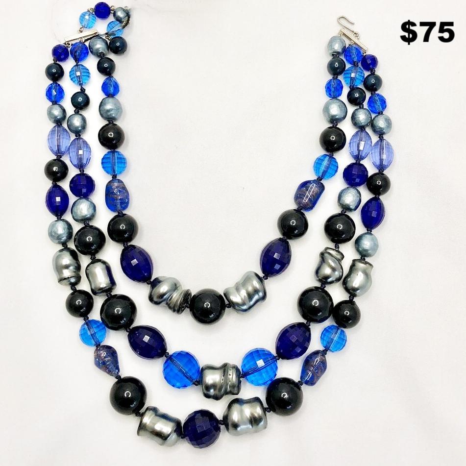 50s Blue Necklace - $75