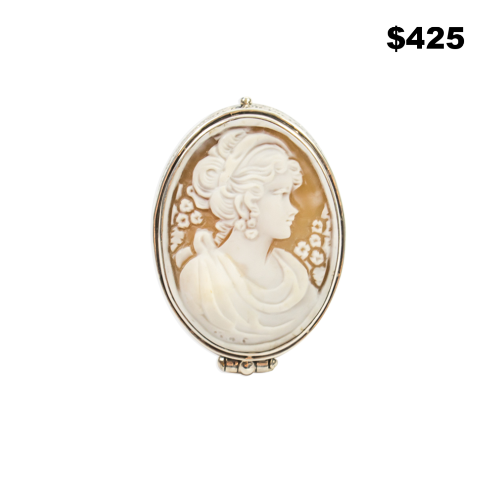 Sterling/Cameo Pill Box Ring