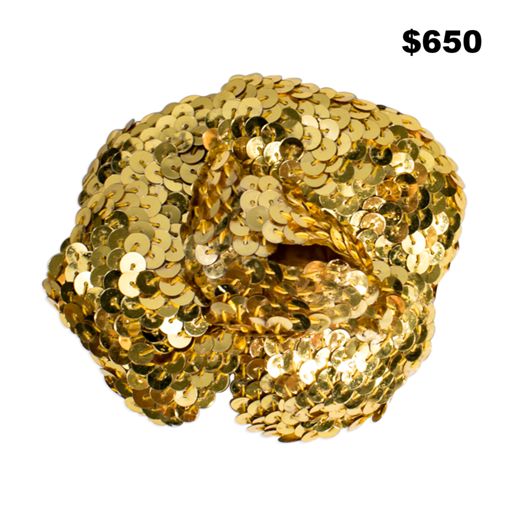 Chanel Gold Sequin Pin - $650