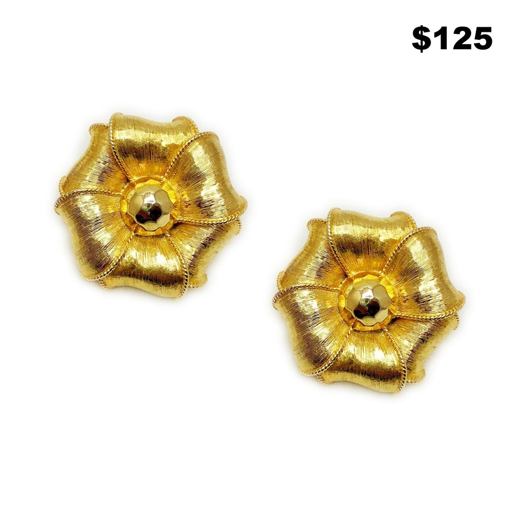 Clip-On Flower Earrings