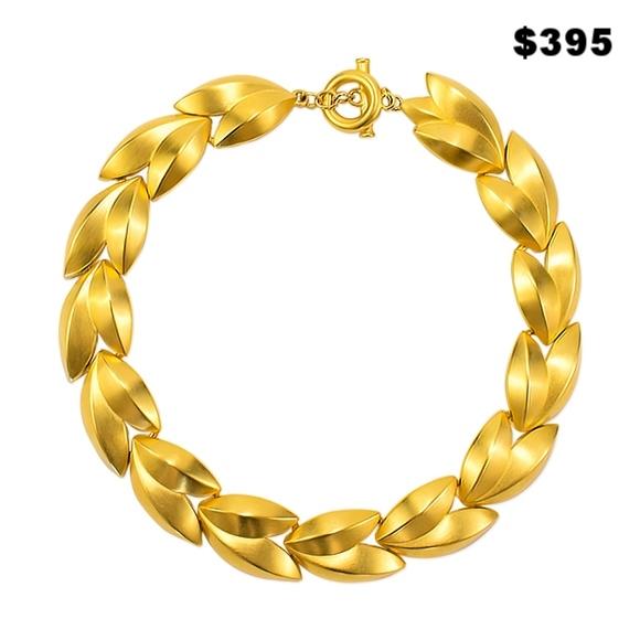 Givenchy Gold Leaf Necklace - $325