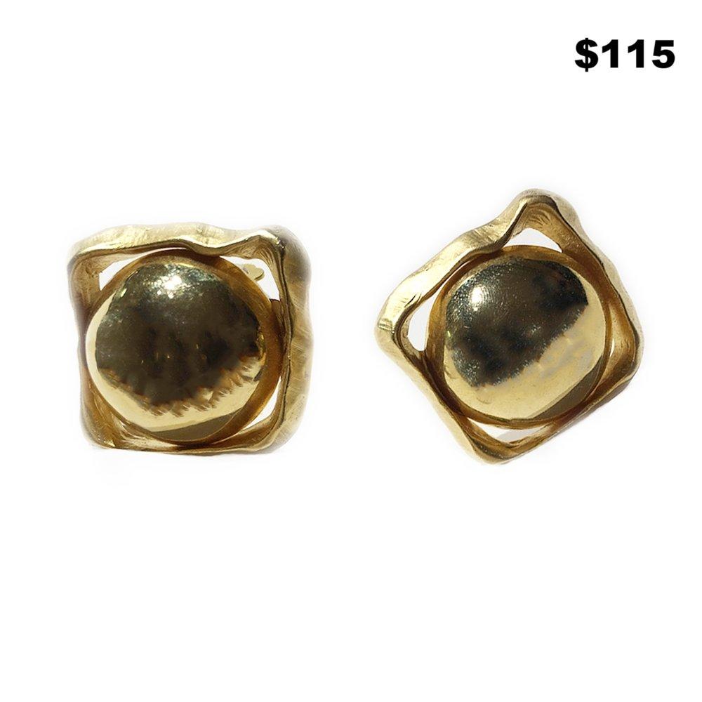 Circle In A Box Earrings - $115