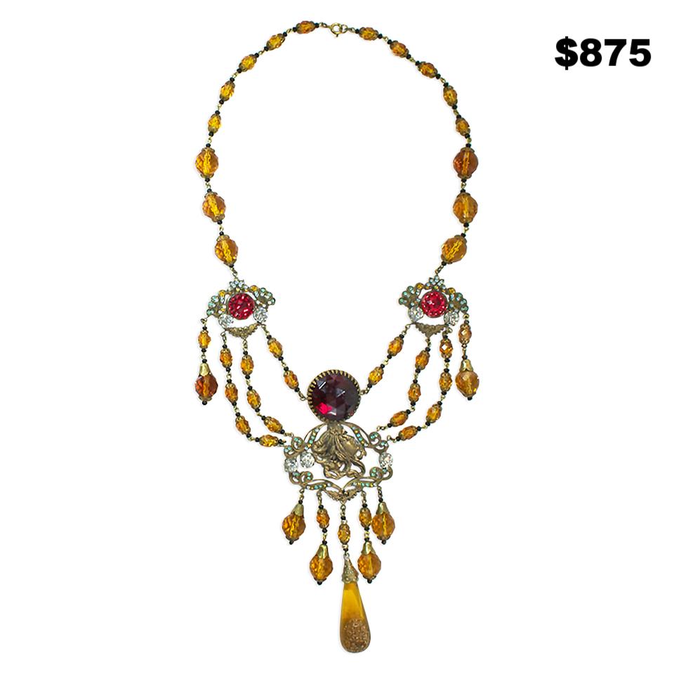 20's Czech Glass Necklace - $875
