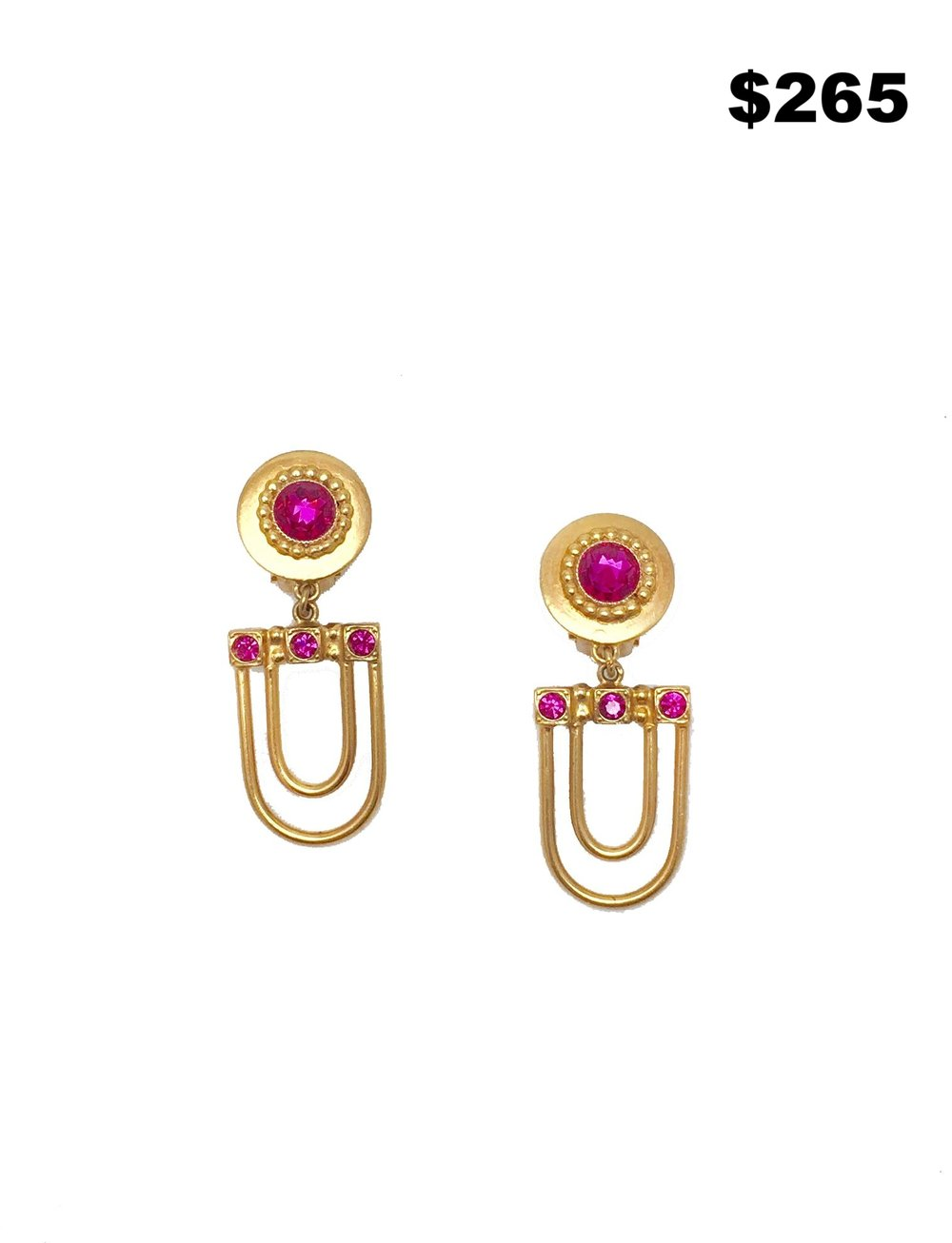 1970's Henry Pink Stone Earring