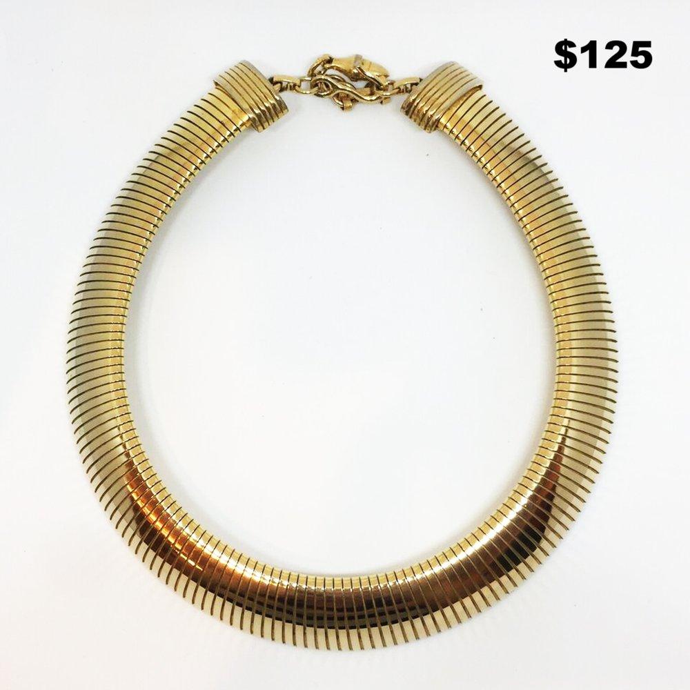 Gold Stretch Choker - $125