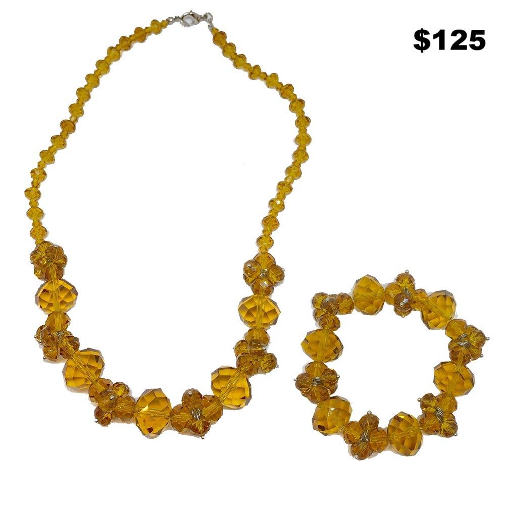 Amber Crystal Set - $125