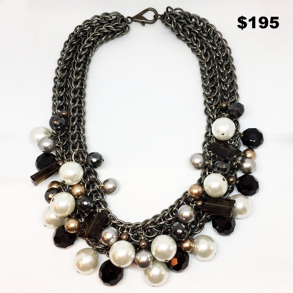 Gunmetal Necklace - $195