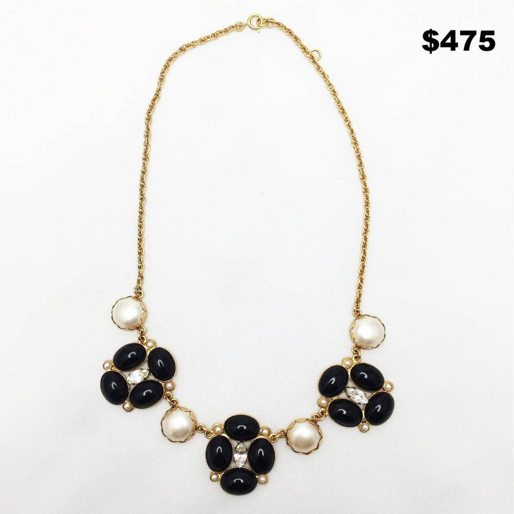 1950's Henry Black & Pearl Necklace