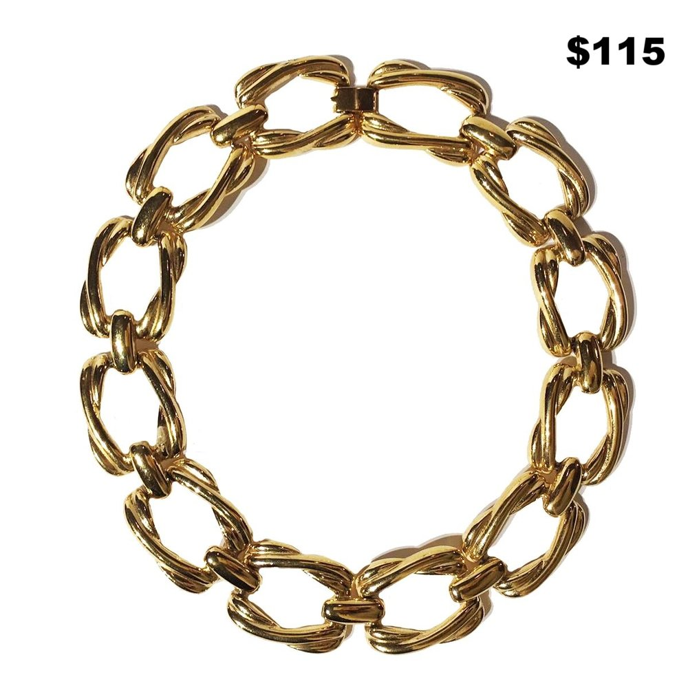 Rectangular Chain Link Necklace