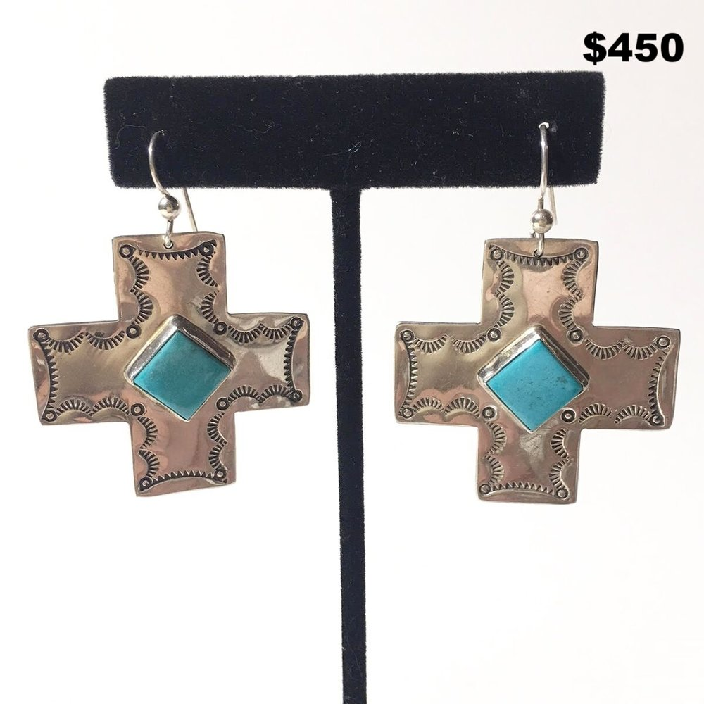 Coriz Sterling Silver Cross Earrings